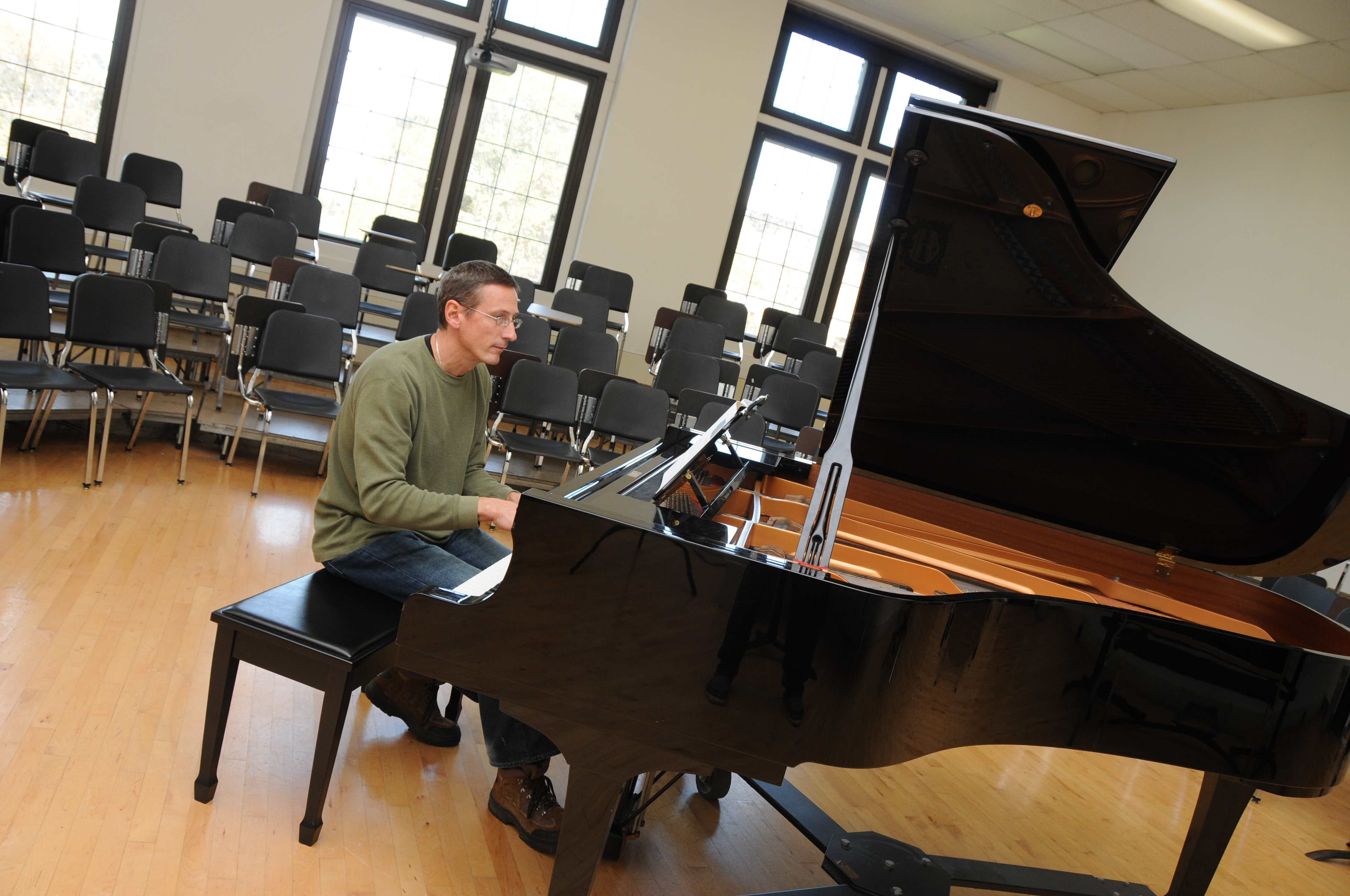 Martin playing the piano