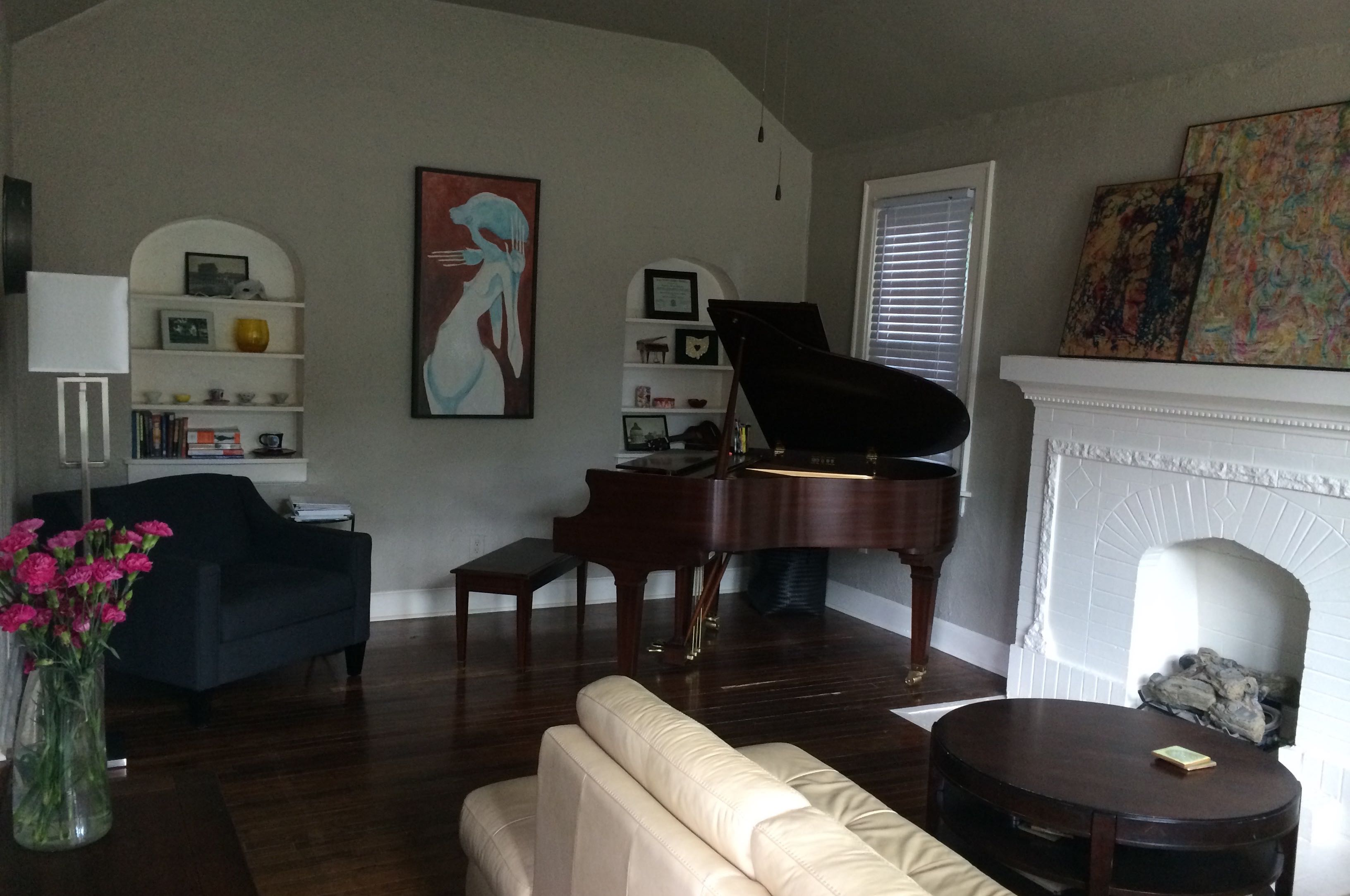 Inside the piano studio in OKC